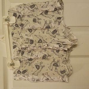 Black and white alpaca PJ shorts